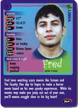 Only in his dreams - Fred's Boy Crazy card.