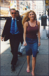 Photo of Brande Roderick walking towards us.